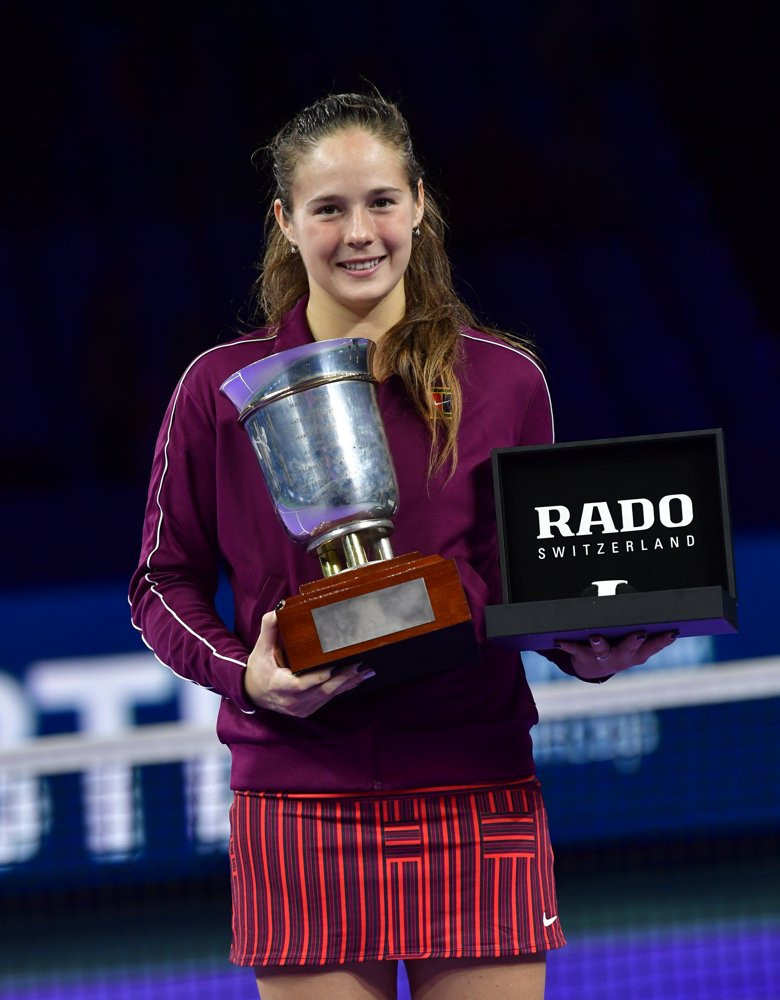 Russia's Daria Kasatkina fought back from a set and a break down in the second to win the WTA Kremlin Cup in Moscow today ©Tennis Russia/Twitter