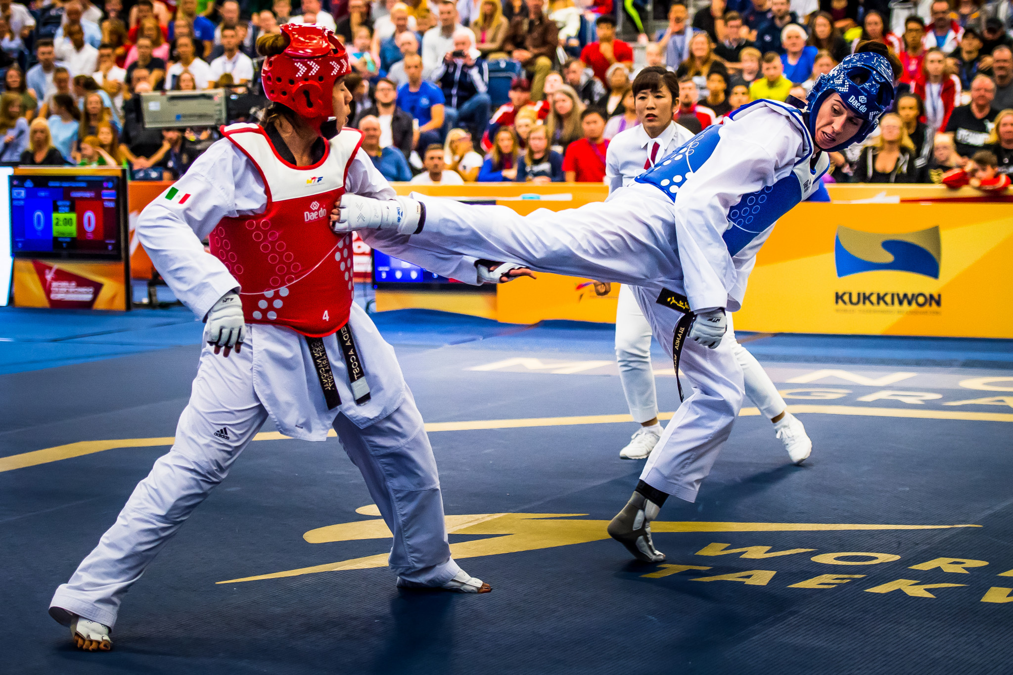 Olympic champion takes gold over home favourite Walkden at Manchester Taekwondo Grand Prix