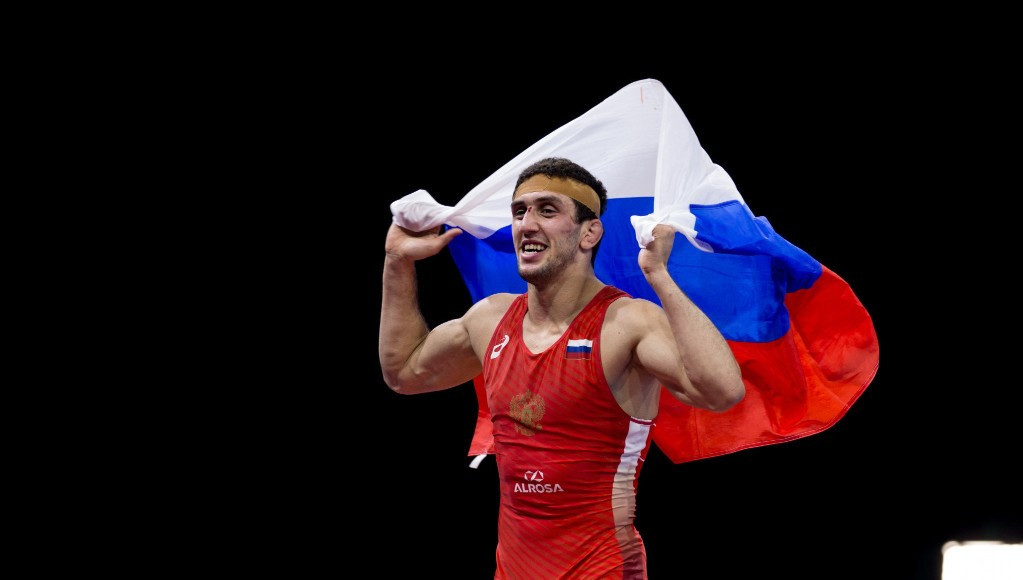 Russia's Zaurbek Sidakov won the gold medal in the 74kg freestyle class ©UWW