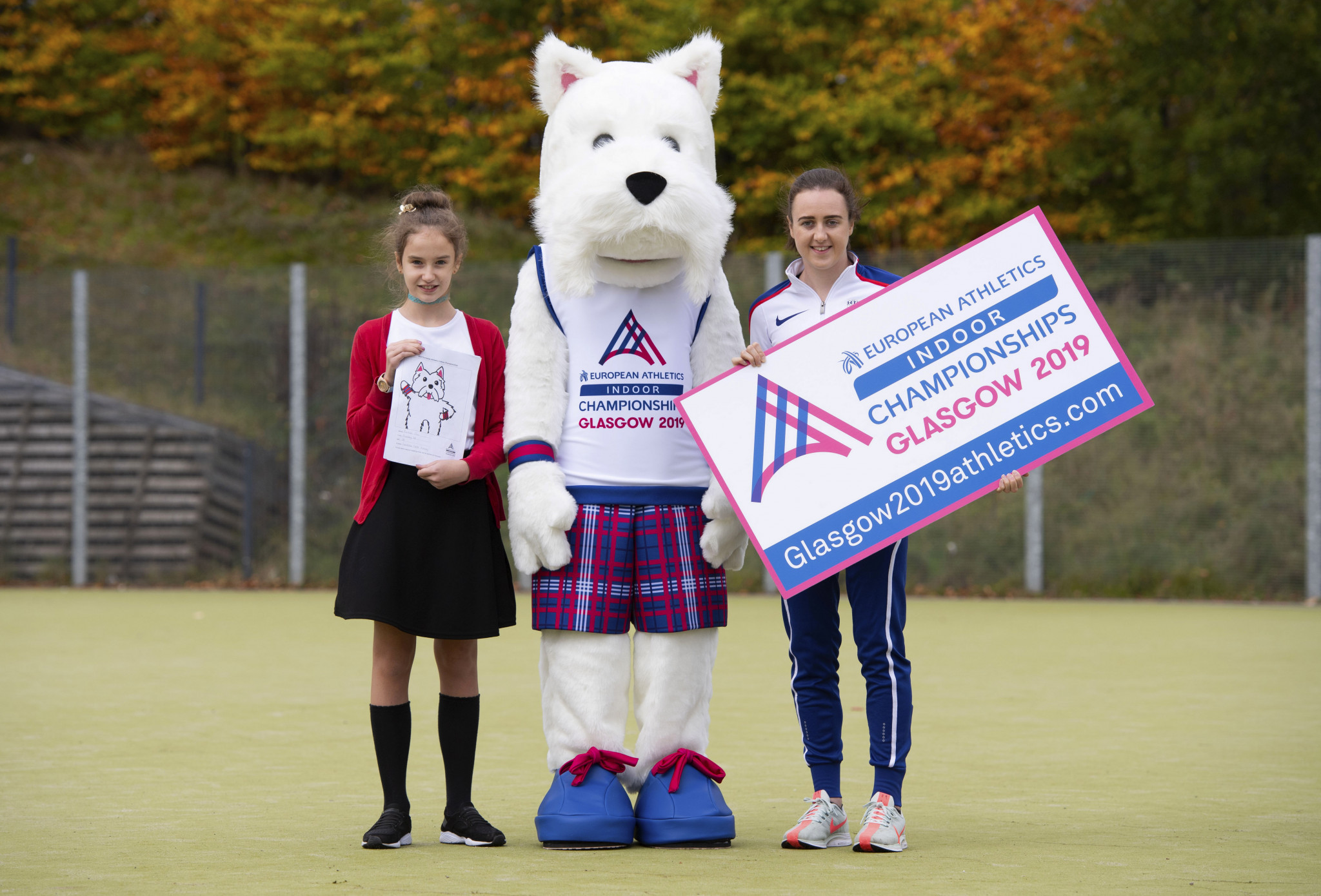 Scottee the Scottie dog, designed by Rachael Joss, has been unveiled as the mascot for the European Athletics Indoor Championships Glasgow 2019 ©European Athletics Indoor Championships Glasgow 2019