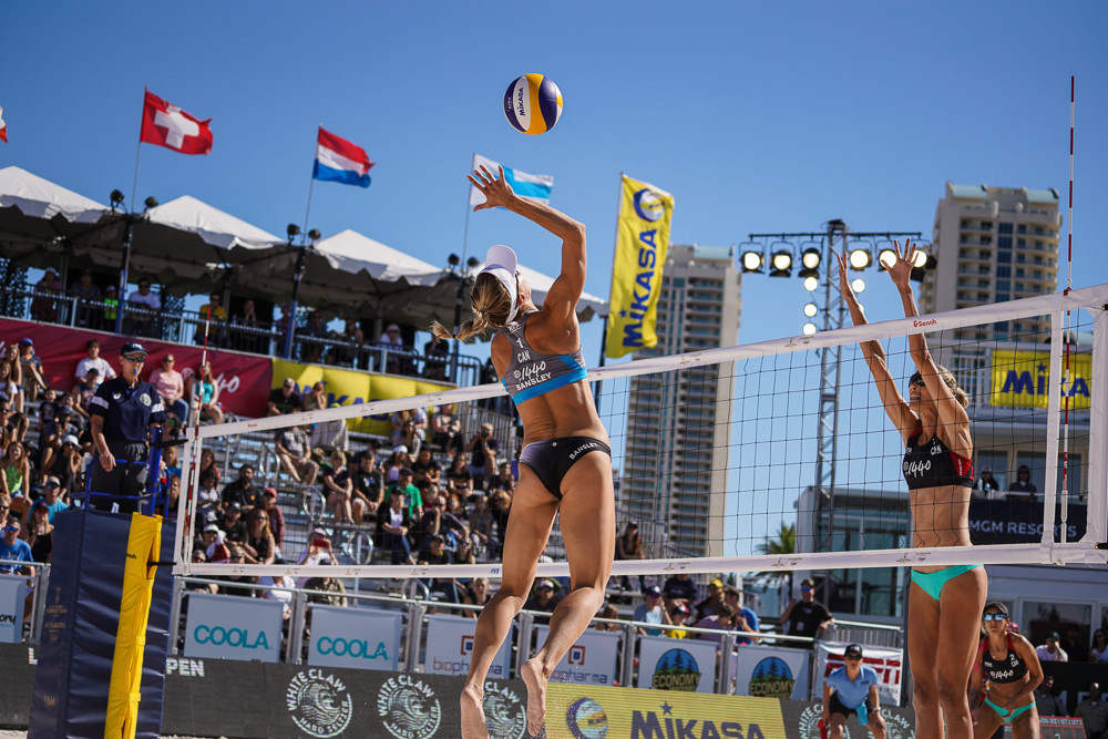 World number ones top all European podium at FIVB Beach World Tour in Las Vegas