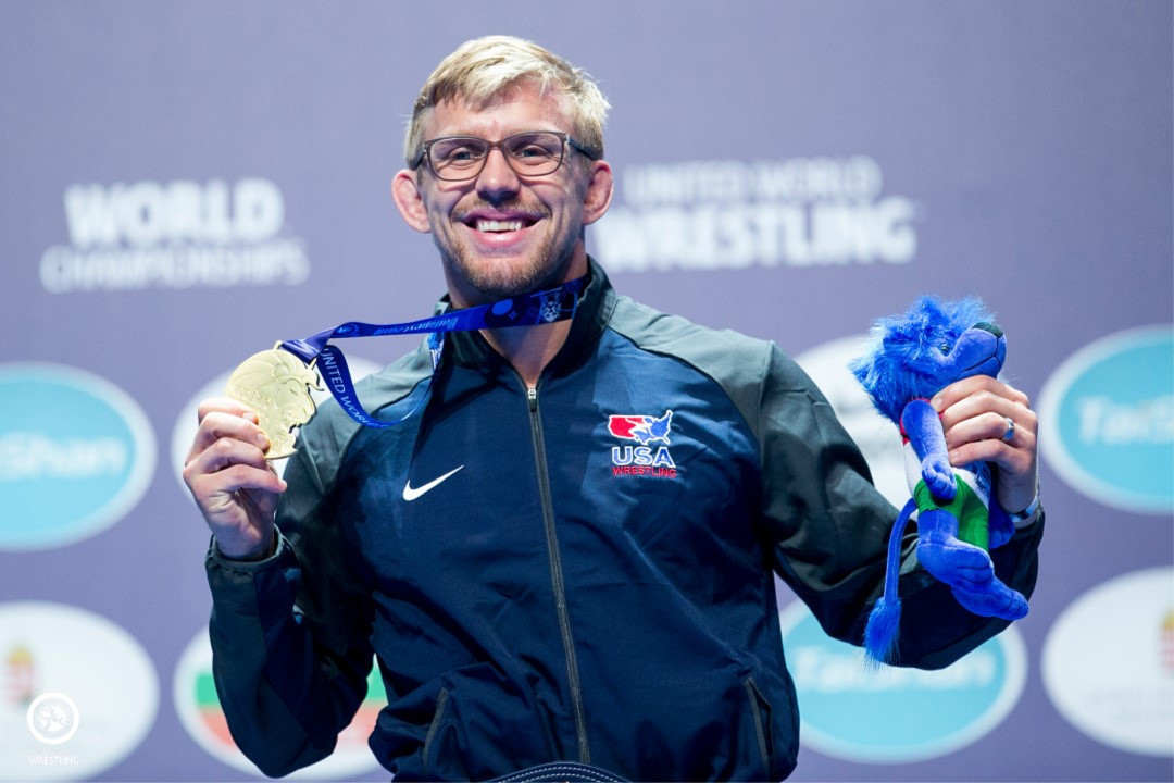 The United States won two golds tonight, thanks in part to Kyle Dake at 79kg ©UWW