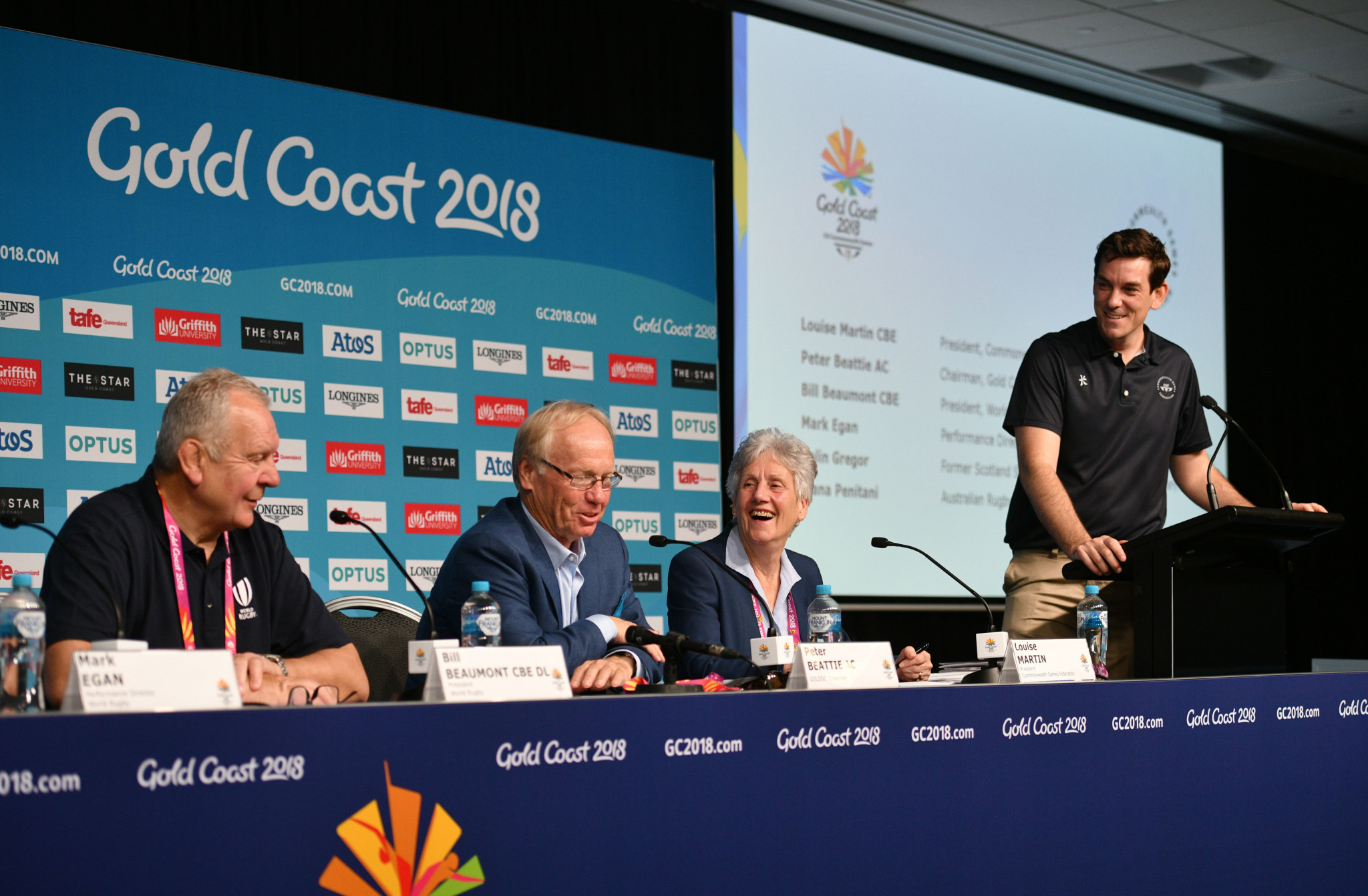 Ben Nichols, far right, left the Commonwealth Games Federation after Gold Coast 2018 ©Getty Images