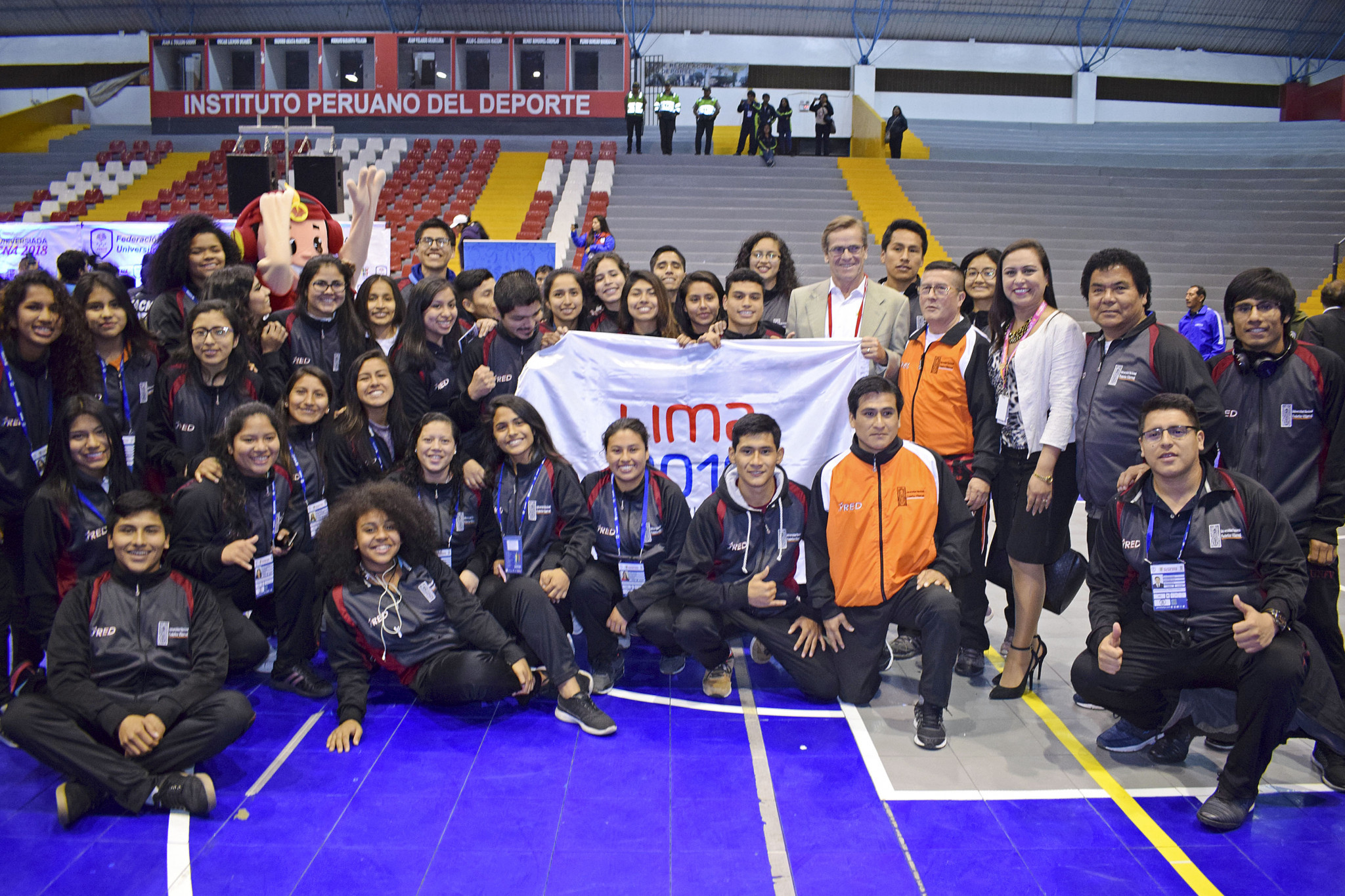 Representatives of the Lima 2019 Volunteer Programme have attended Peru's National University Games in Tacna ©Lima 2019