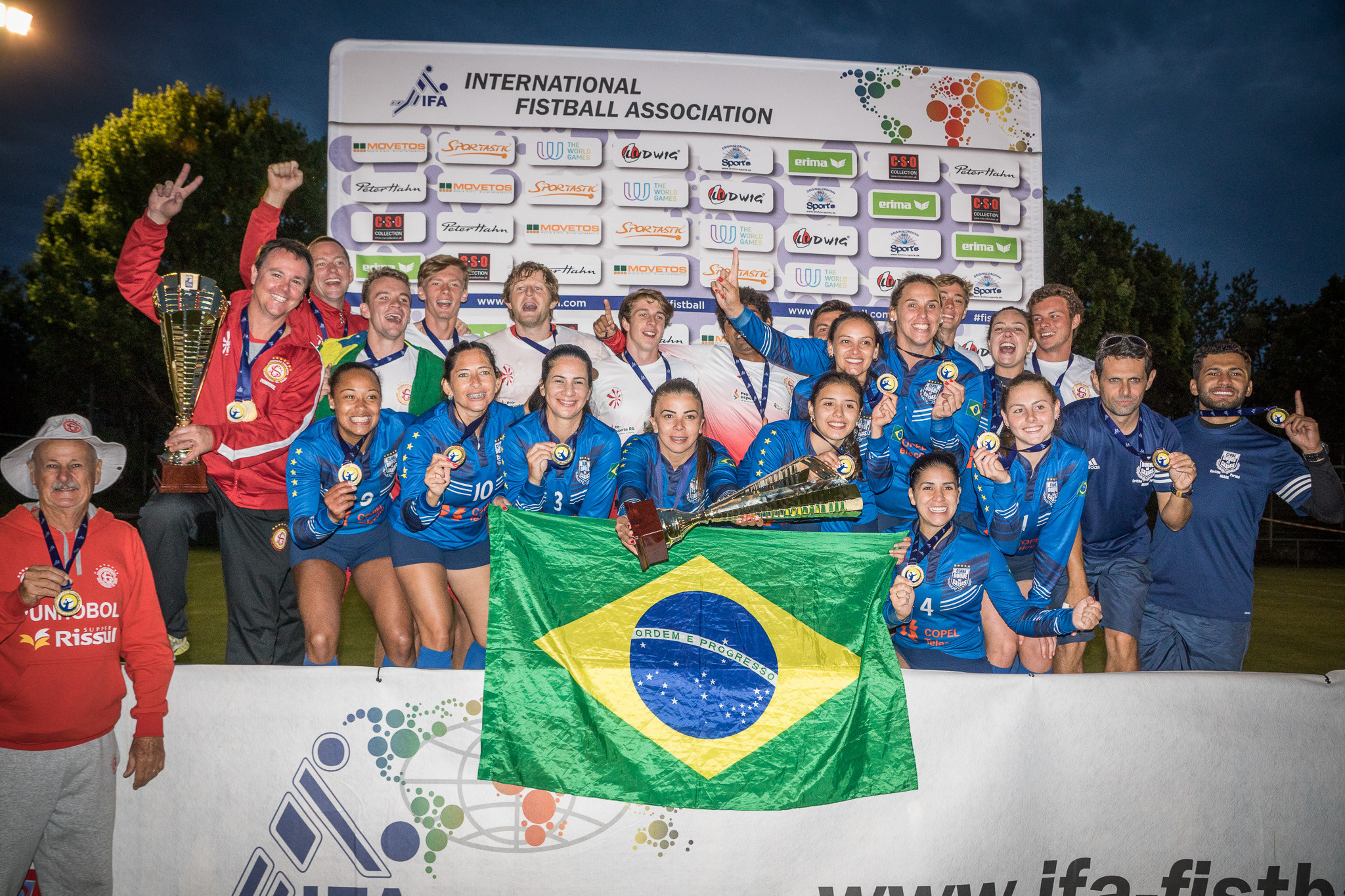 Sociedade Ginástica Novo Hamburgo and Clube Duque de Caxias will seek to defend their men's and women's titles at the 2019 International Fistball Assocation World Tour Finals in Salzburg ©IFA