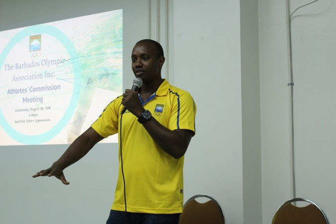 Martyn Forde played a key role in the formation of the Athletes Commission of the Barbados Olympic Association ©BOA