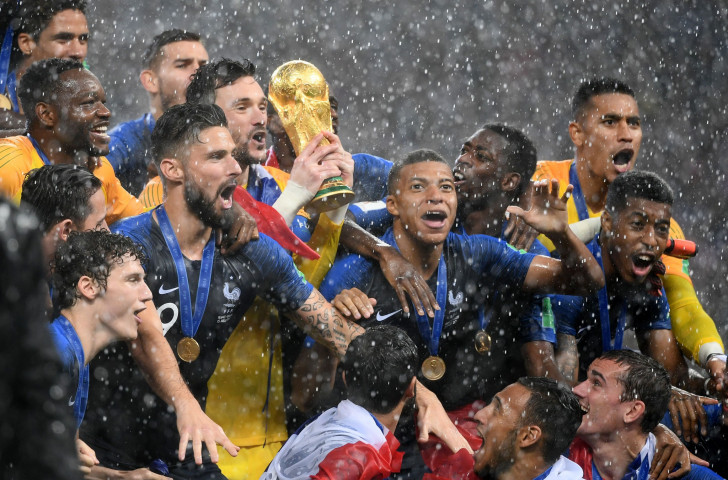France celebrate winning the 2018 FIFA World Cup - but the tournament was a financial winner too as far as the Russian organisers were concerned ©Getty Images