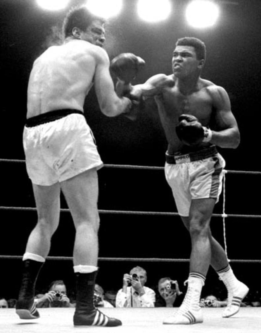 Muhammad Ali beat Germany's Karl Mildenberger in Frankfurt in 1966 ©Hulton Archive