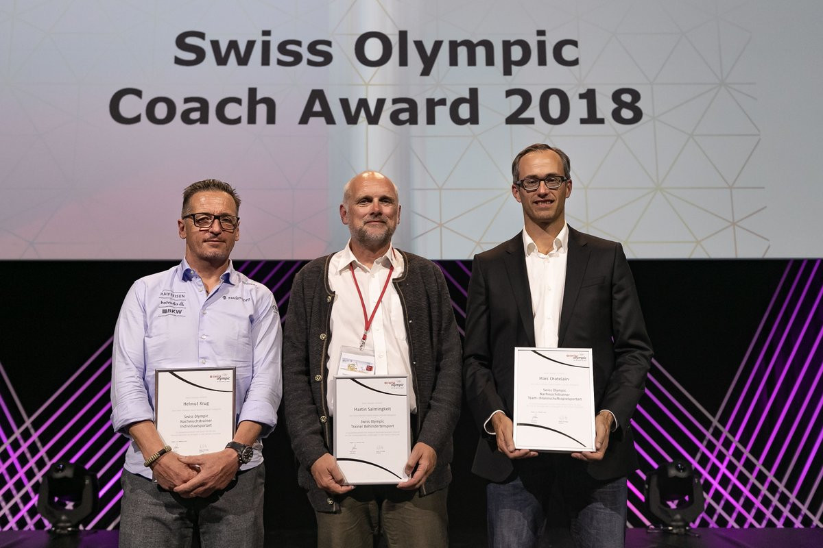 Three coaches receive Swiss Olympic awards