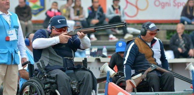 The busy 2018 season included the inaugural Para Trap World Championships in Italy ©British Shooting