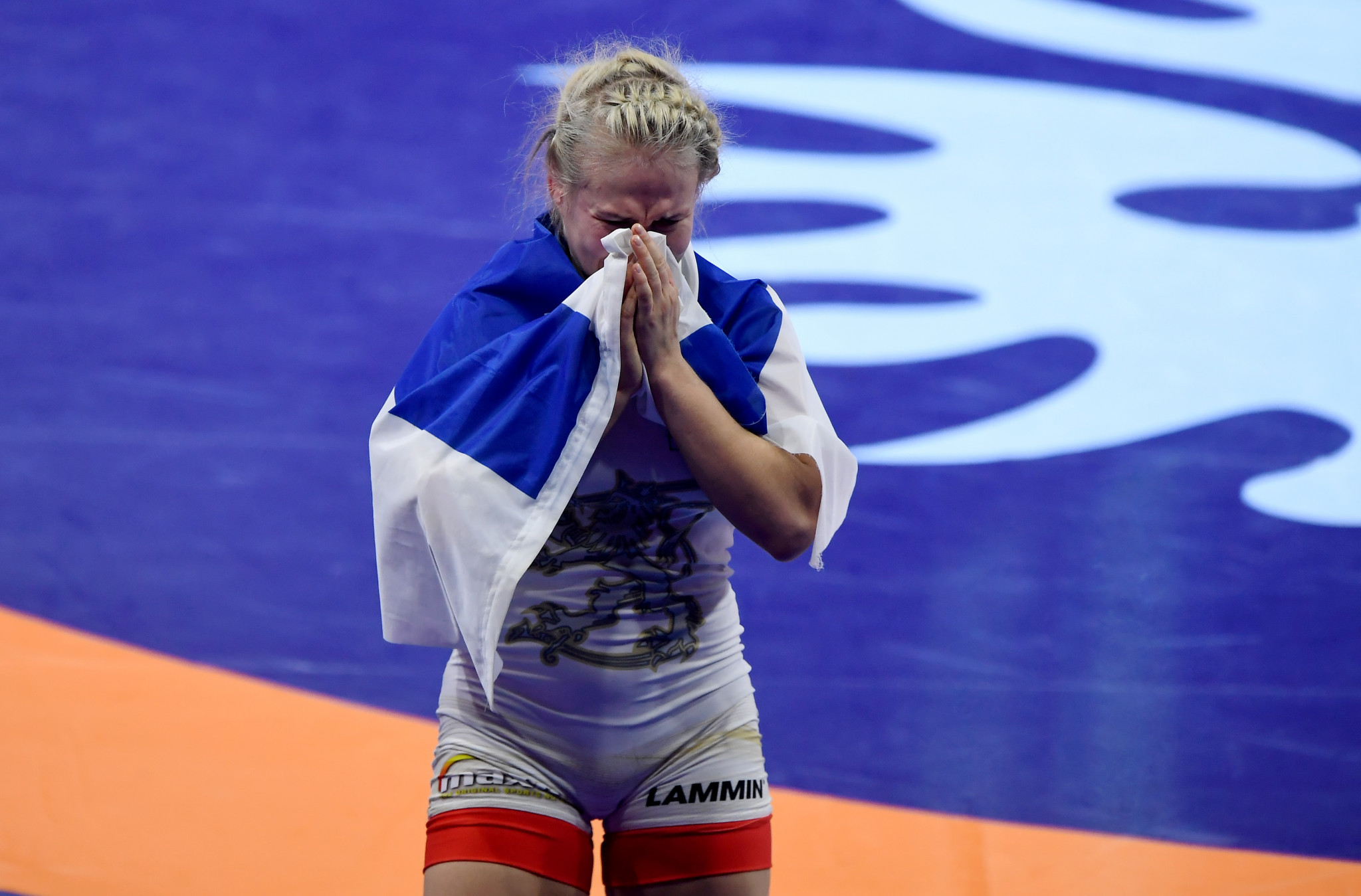 Finland's Petra Olli won 62kg gold after a last second takedown from her opponent sparked confusion ©Getty Images