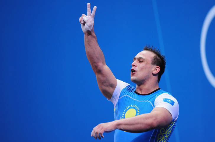 Kazakhstan's Ilya Ilyin, pictured celebrating a world record and second Olympic title at London 2012 - he was subsequently stripped of both - has qualified to take part in the impending IWF World Championships after serving a two-year suspension ©Getty Images