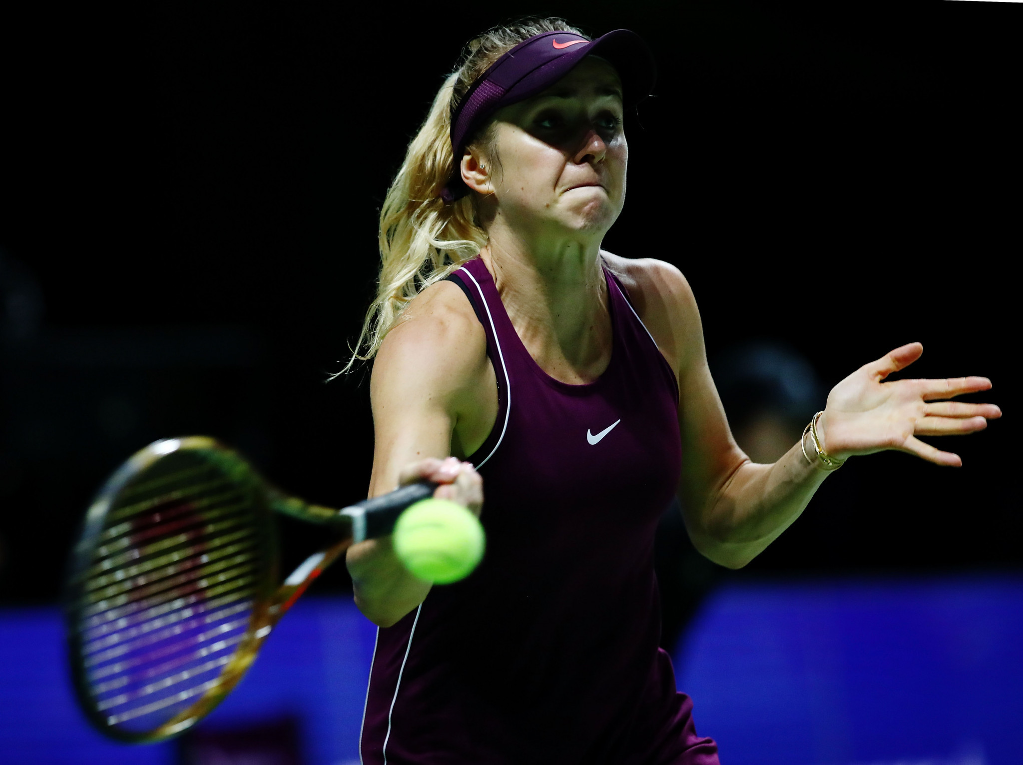 Elina Svitolina progressed to the semi-finals with victory over Caroline Wozniacki ©Getty Images
