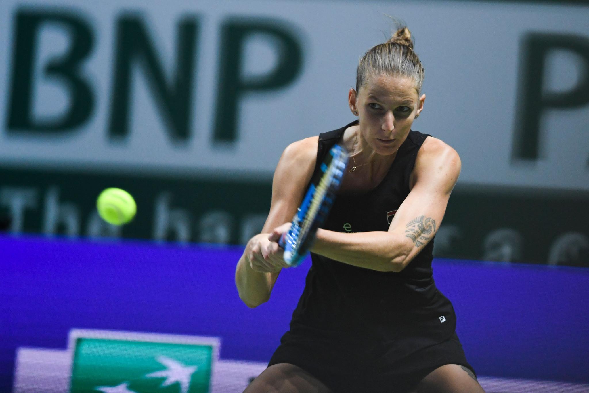 Karolína Plíšková progressed to the semi-finals with victory over Czech compatriot Petra Kvitová ©Getty Images