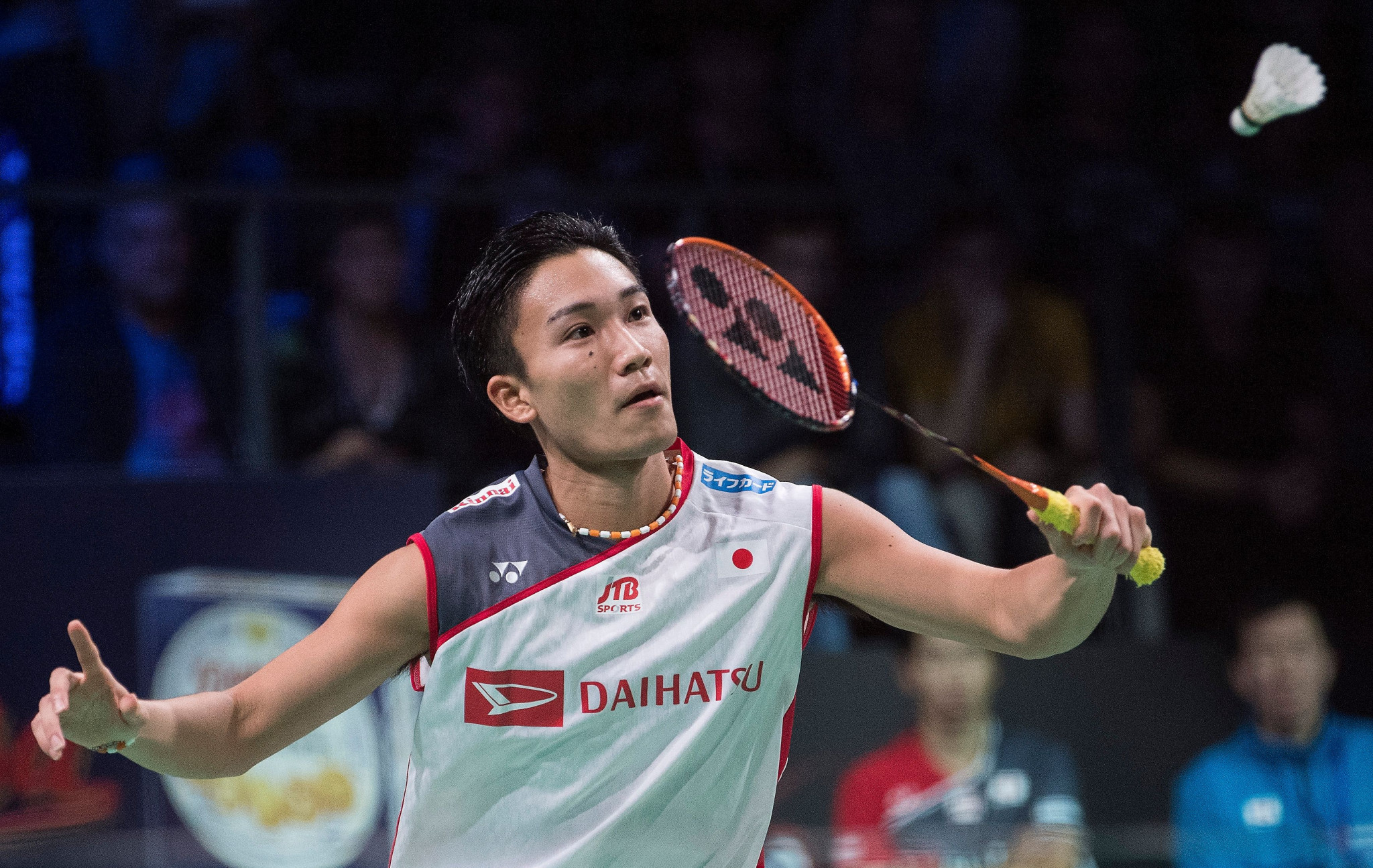 Japan's Kento Momota continued his dominant run of form as he dispatched compatriot Kazumasa Sakai ©Getty Images