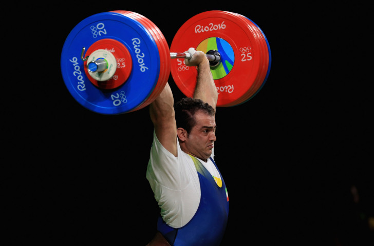 Sohrab Moradi of Iran en-route to gold in the men's 94 kilograms weightlifting at the Rio 2016 Olympics - the IWF believes it has done enough to combat doping to retain its Olympic status ©Getty Images