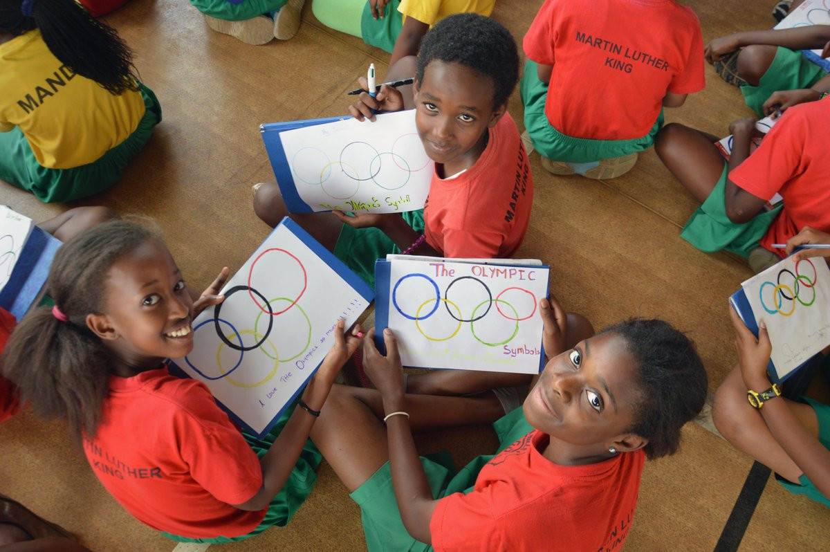 Many of the projects aim to promote the Olympic values to young people ©WOA