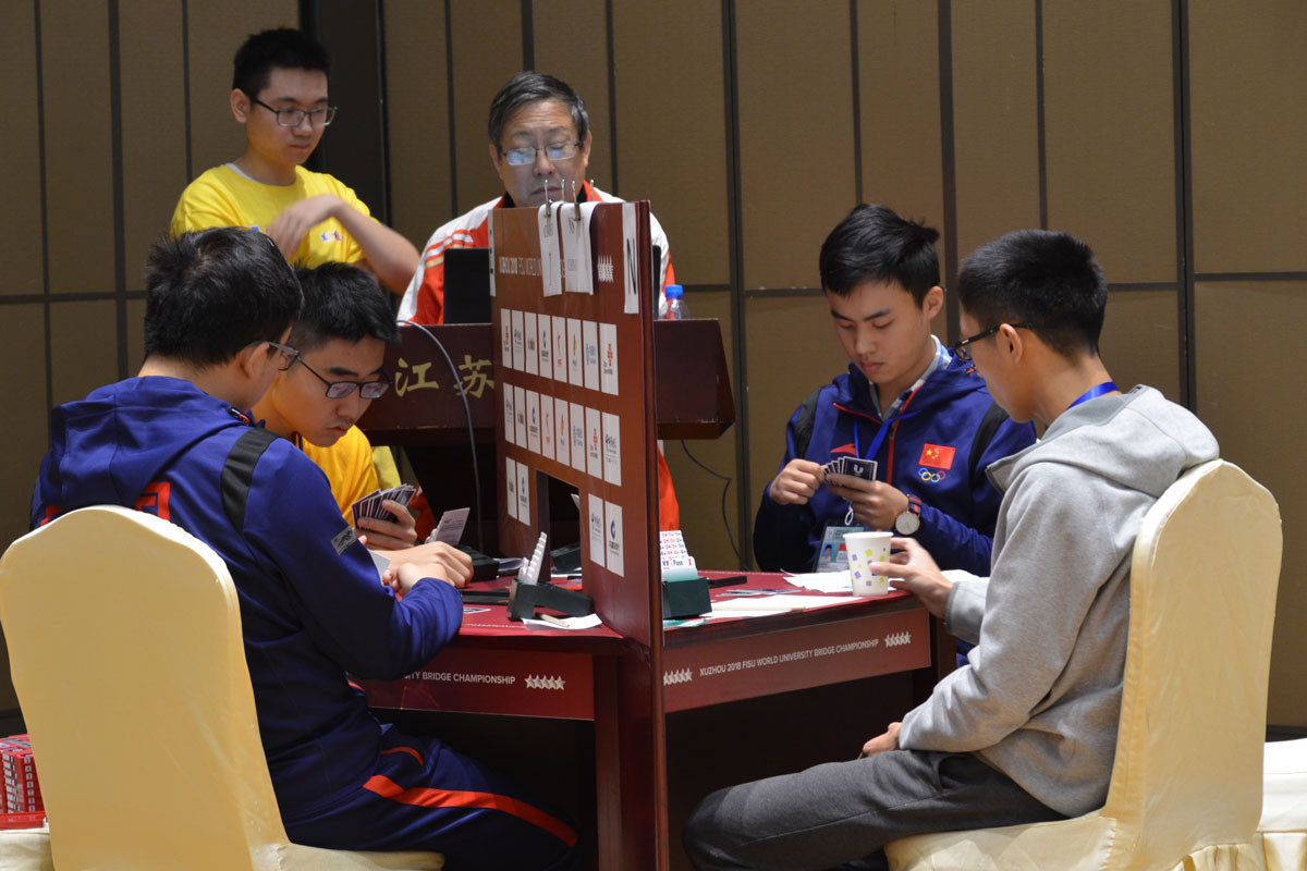 Poland lead after the first day of play at the World University Bridge Championships in the Chinese city of Quzhou ©FISU