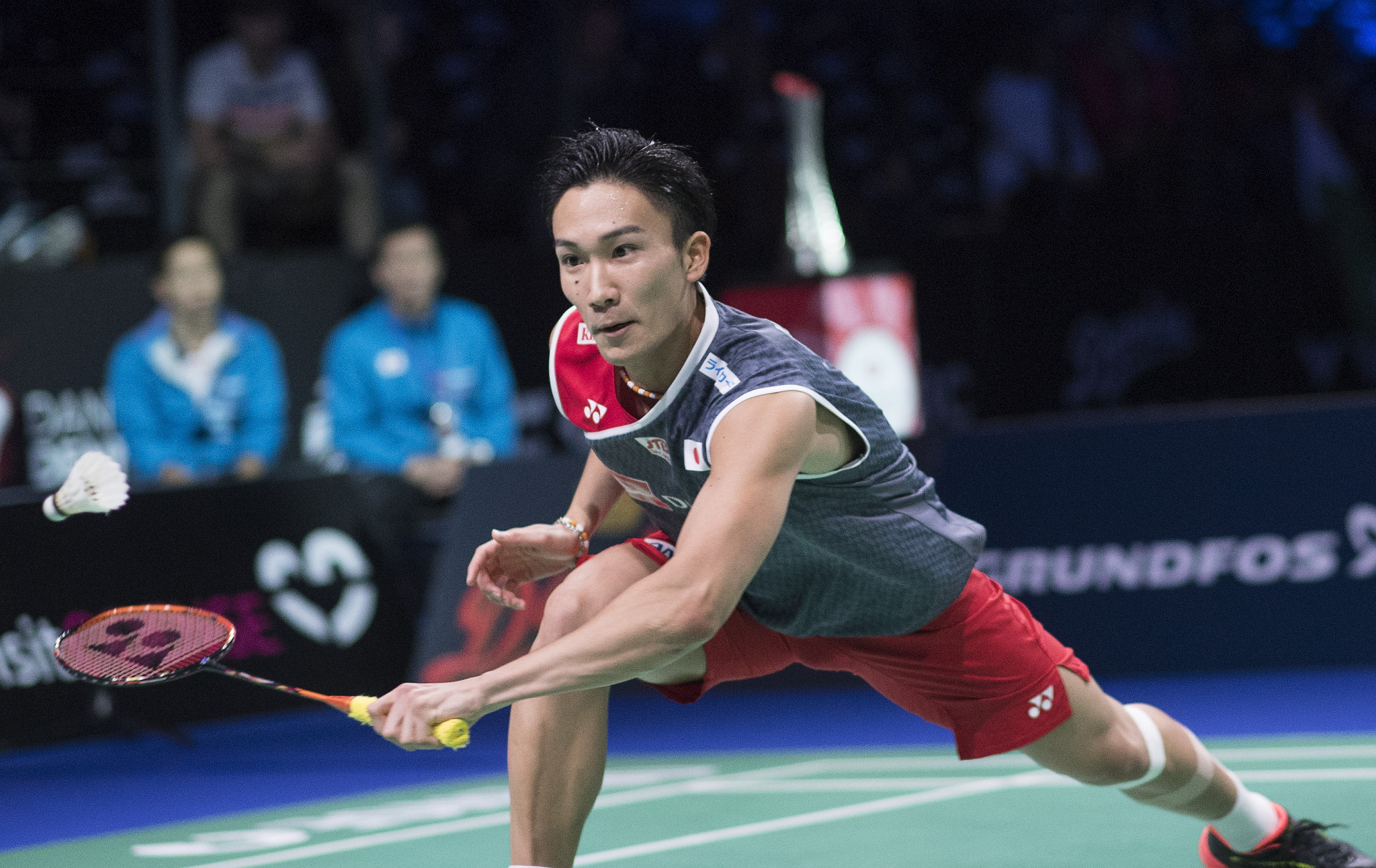 Kento Momota continued his bid for a second straight title ©Getty Images