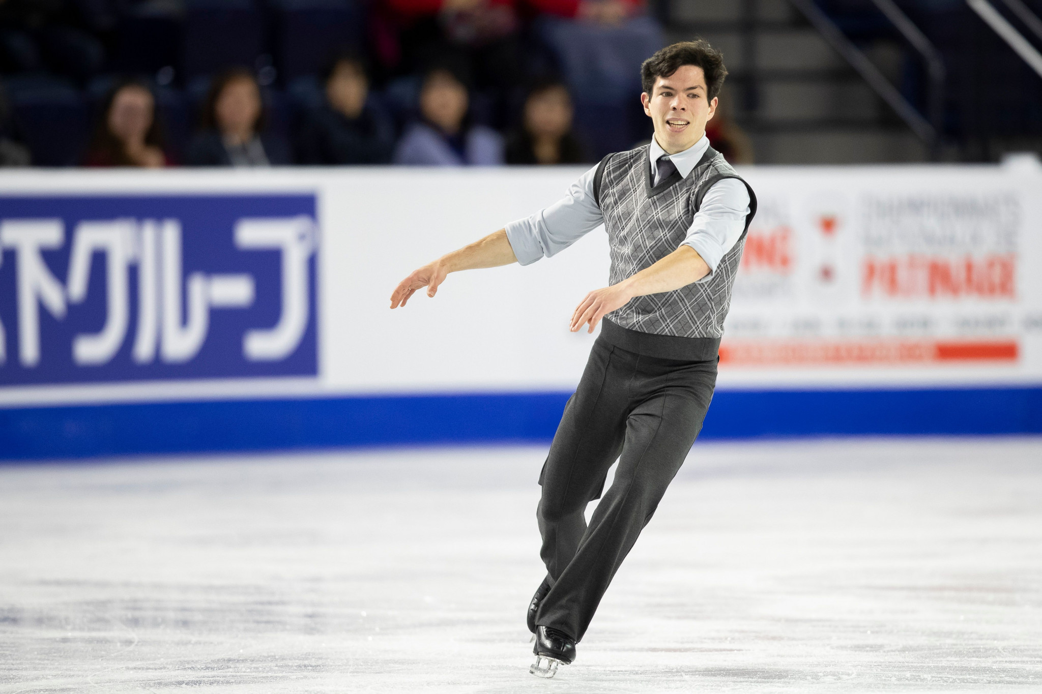 Home favourite Messing tops men's short programme standings on opening day of Skate Canada