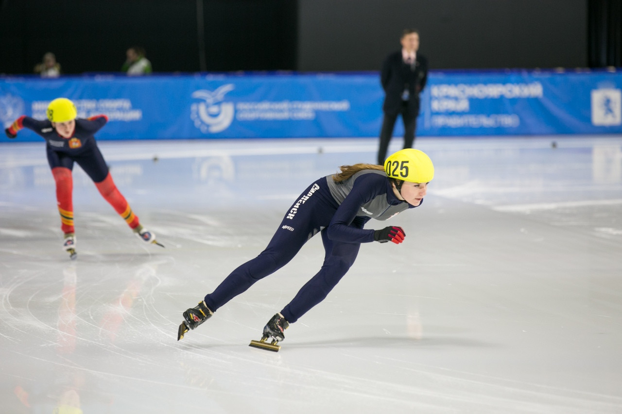 Around 80 athletes are taking part in the short track speed skating test event ©Krasnoyarsk 2019