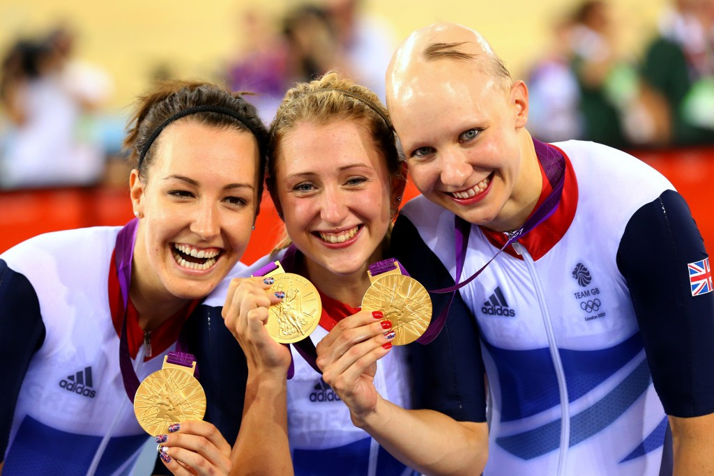 Dani King (left) is hoping to have the opportunity to retain her London 2012 team pursuit gold medal at Rio 2016