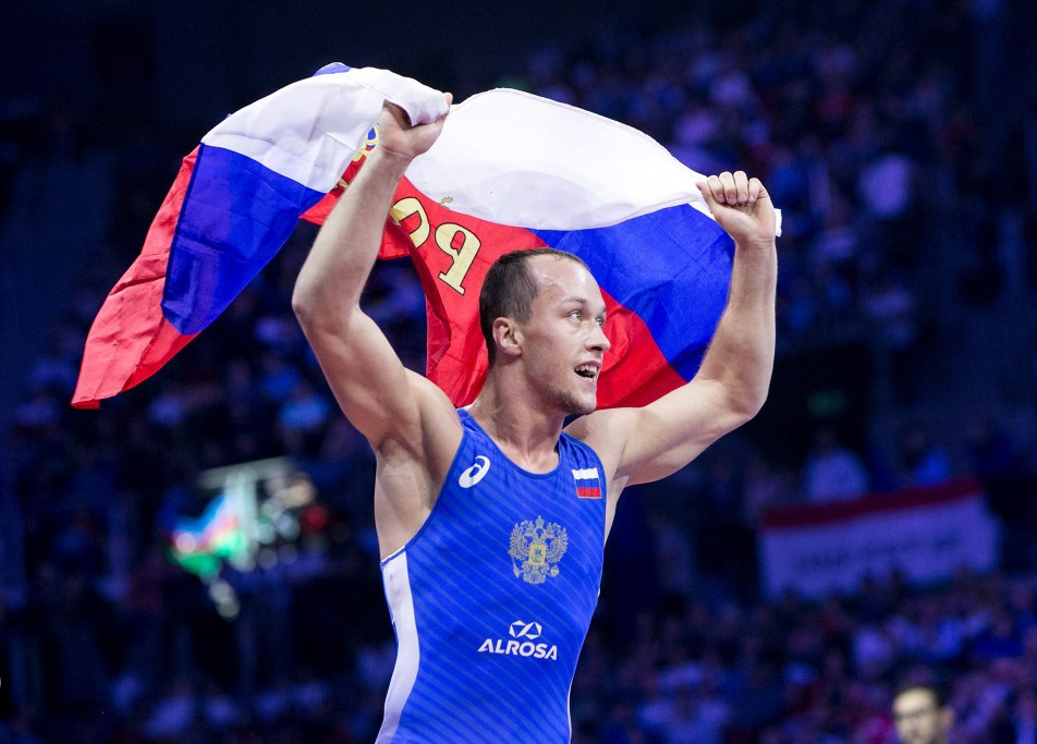 Sergei Emelin was one of two Russians to win a gold tonight, helping put his country atop the medals table ©UWW