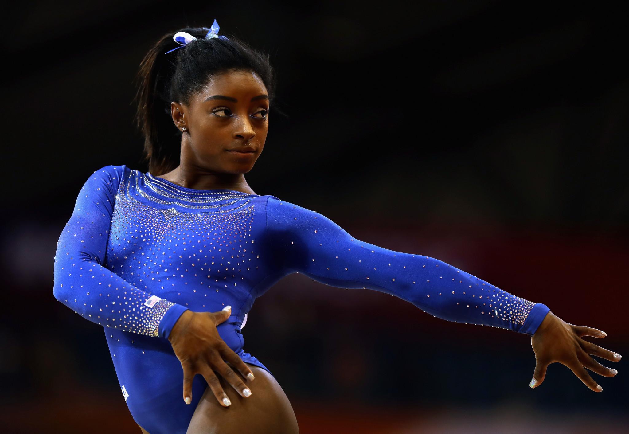 Biles shrugs off kidney stone to shine at World Artistic Gymnastics Championships