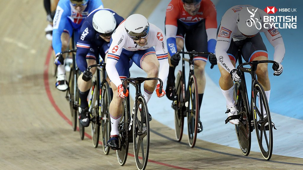 Jason Kenny won the men's keirin event ©Twitter/British Cycling