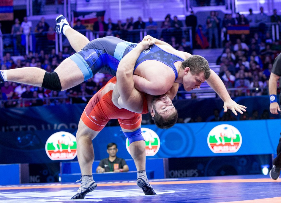 Russia's wrestlers dominated their opponents tonight to win all three gold medals on offer ©UWW