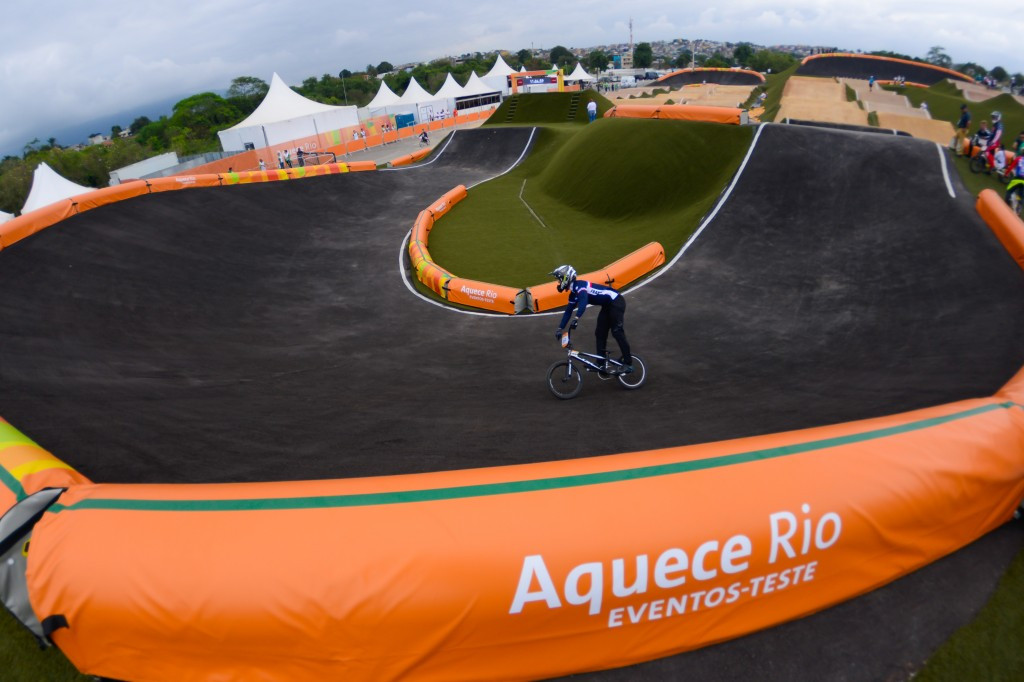 The BMX test event for the Rio 2016 Olympic Games had to be cancelled due to heavy rain ©Rio 2016