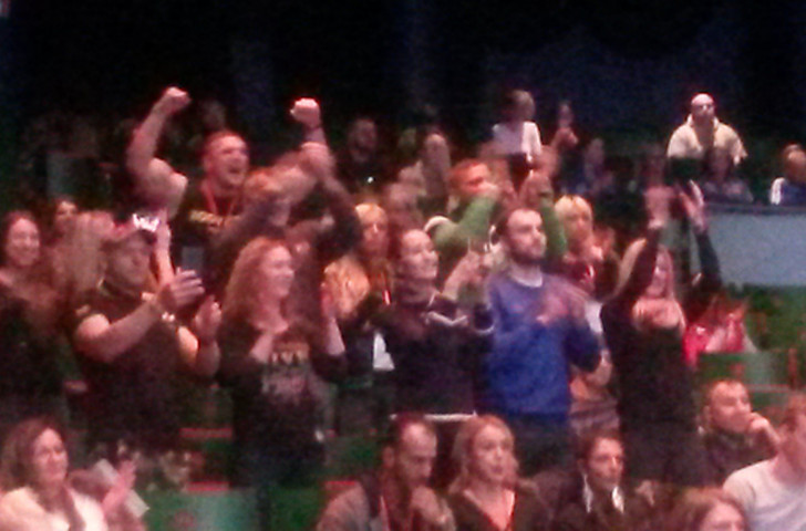 Lithuania's followers had plenty to celebrate on the final day of the IFBB World Fitness Championships ©ITG