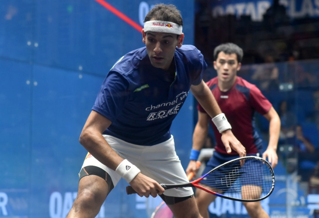 Defending champion Elshorbagy wins first game of PSA Qatar Classic