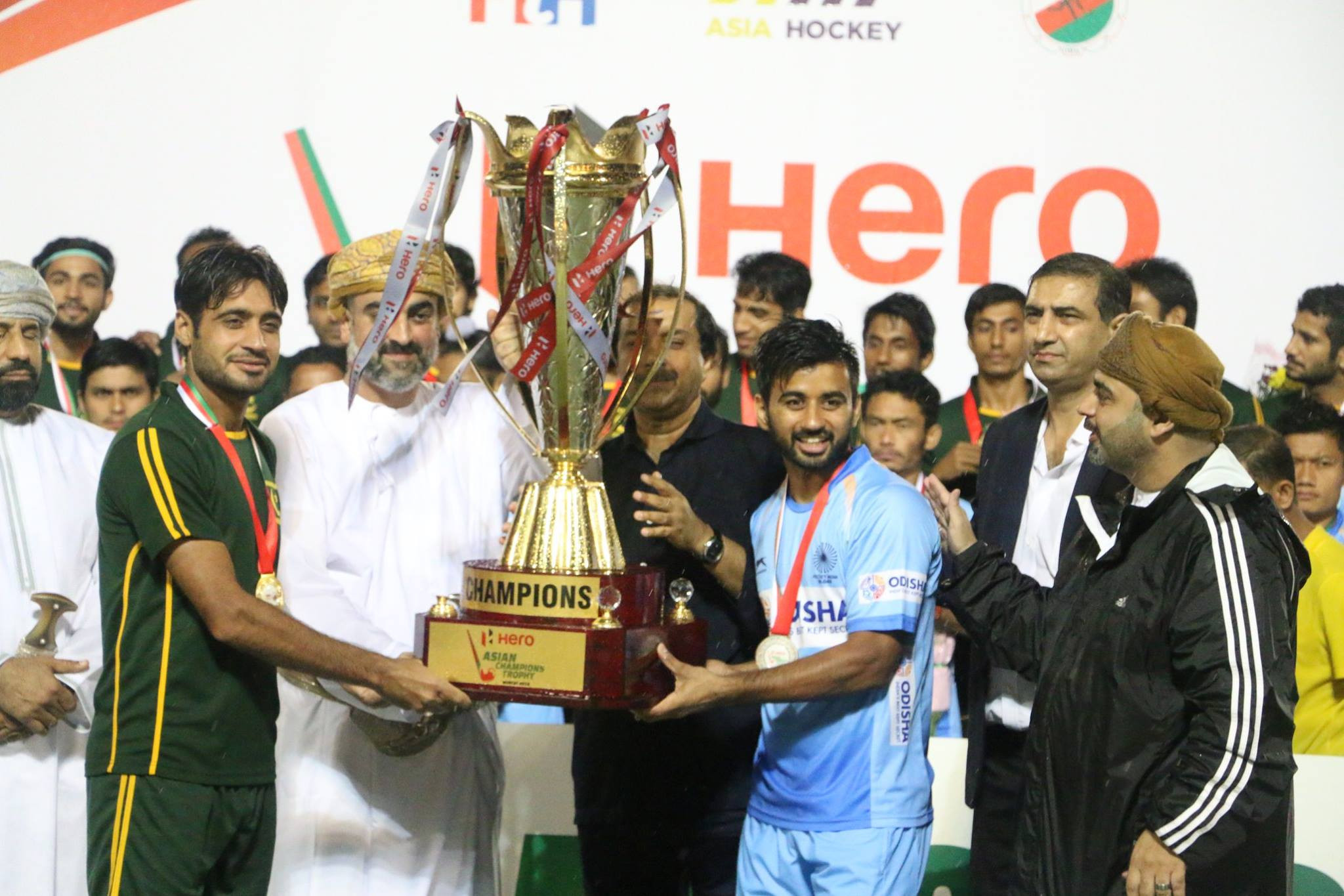 India and Pakistan joint winners of Asian Hockey Champions Trophy after final called off due to rain