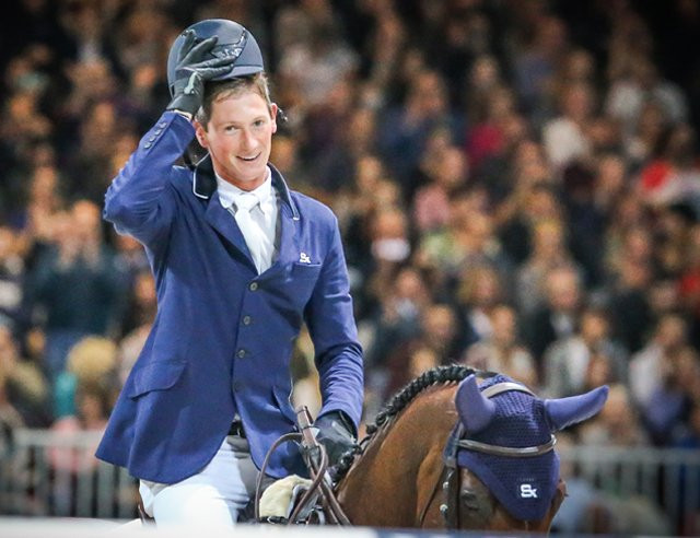 Germany's Daniel Deusser held off 13 other riders in a thrilling jump-off to take victory at the FEI Jumping World Cup event in Italian city Verona today ©FEI/Twitter