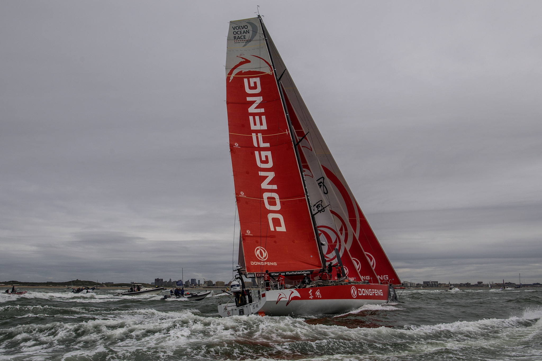 Keelboat races such as the Volvo Ocean Race are very popular, but it is claimed the format would not work in an Olympic regatta ©Getty Images