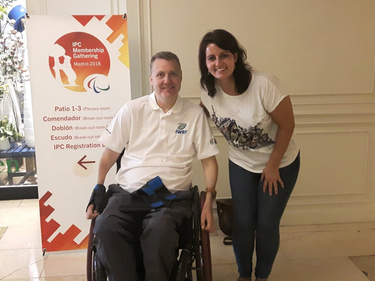 The new President of the IWRF, Richard Allcroft, met with a representative from the Spanish Sports Federation for People with Physical Disabilities to discuss the development of wheelchair rugby in Spain ©Richard Allcroft