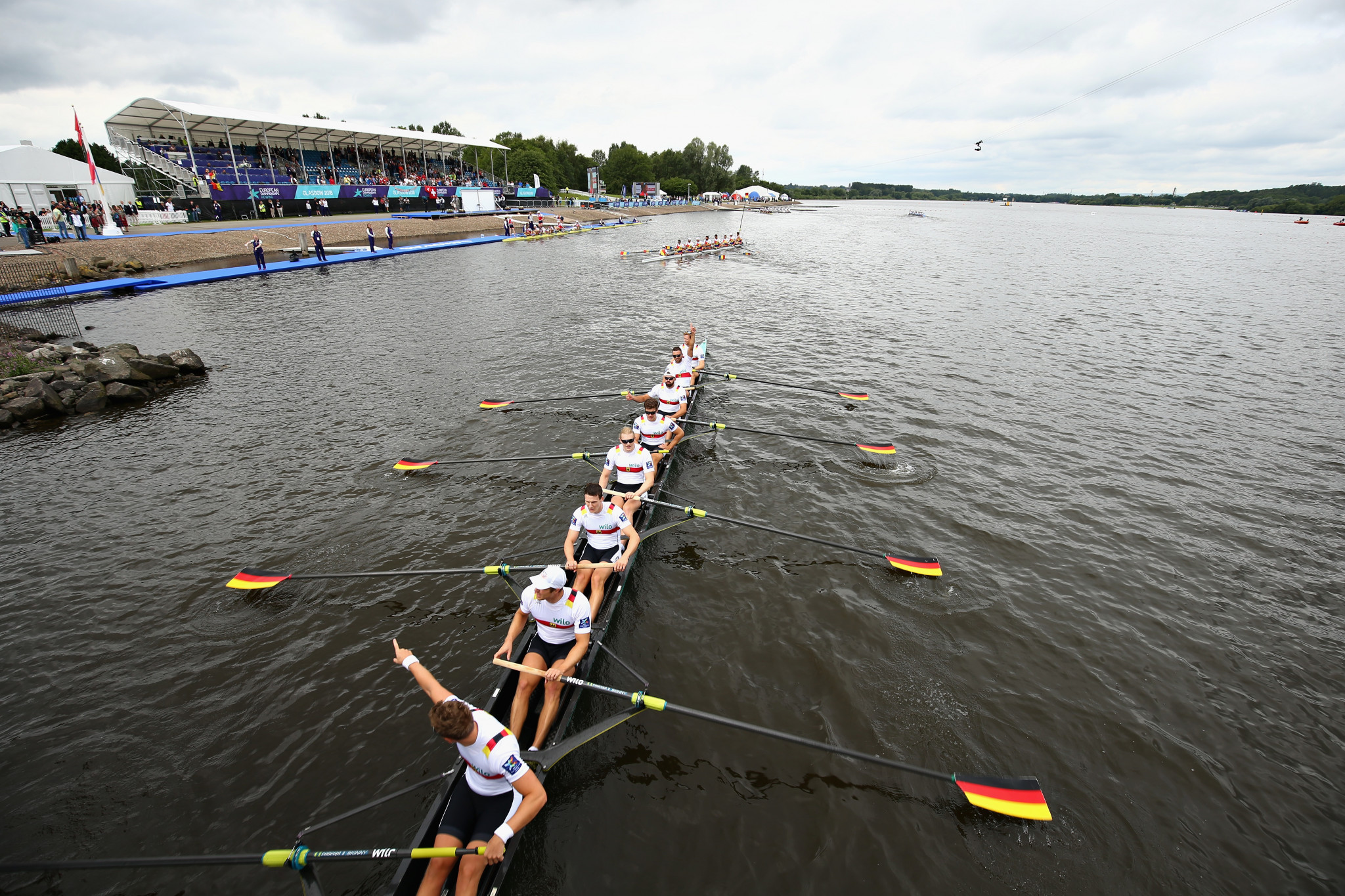 Germany's men's eight crew earned European and World Championship golds for the second straight year ©Getty Images
