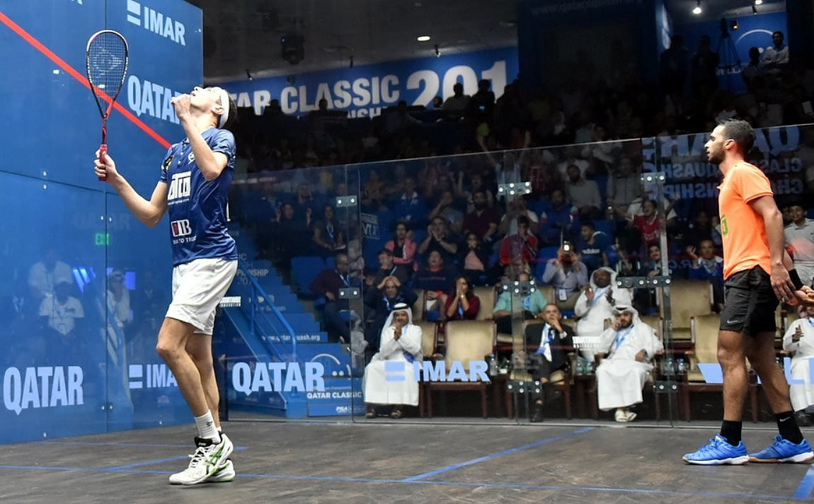 World number two Farag squeezes into next round at PSA Qatar Classic