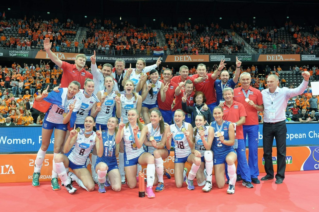 Russia retain Women's European Volleyball Championship title after overcoming hosts The Netherlands
