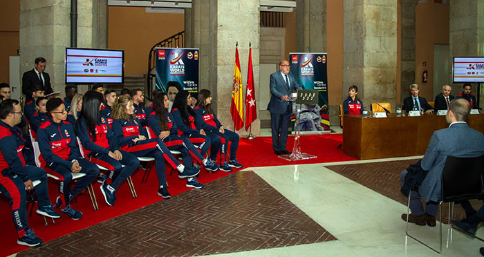 The WKF President was speaking at a launch event for the Championships in Madrid ©WKF