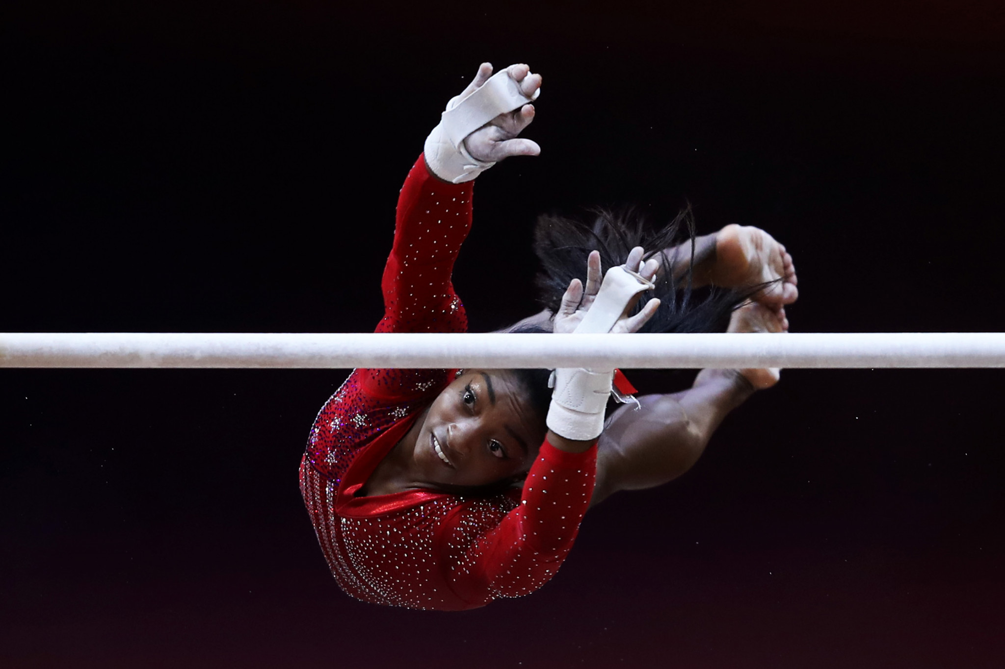 Biles spearheads United States to team title by huge margin at Artistic Gymnastics World Championships