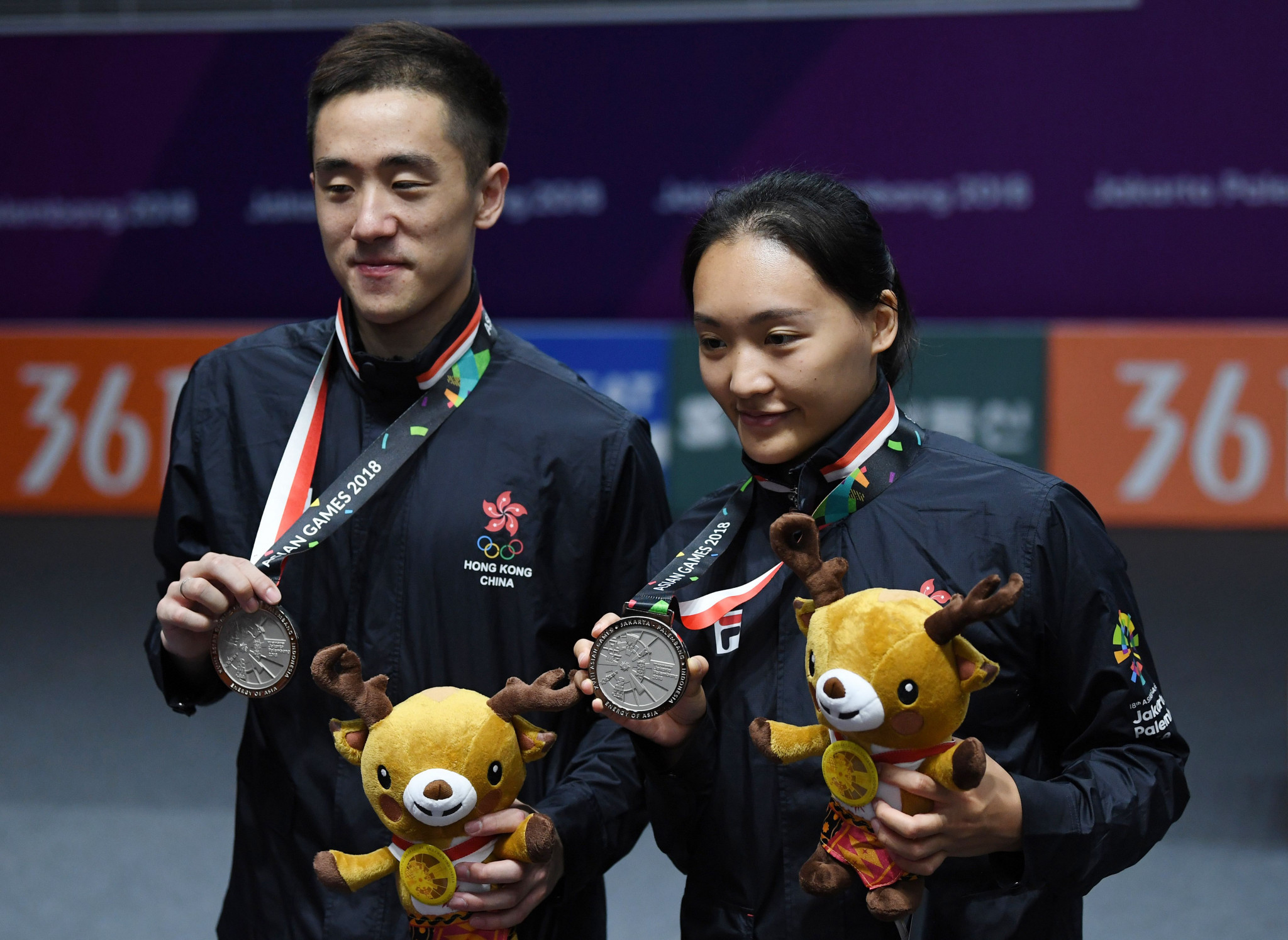 Asian Games silver medallists Tang Chun Man and Tse Ying Suet advanced in Macau ©Getty Images