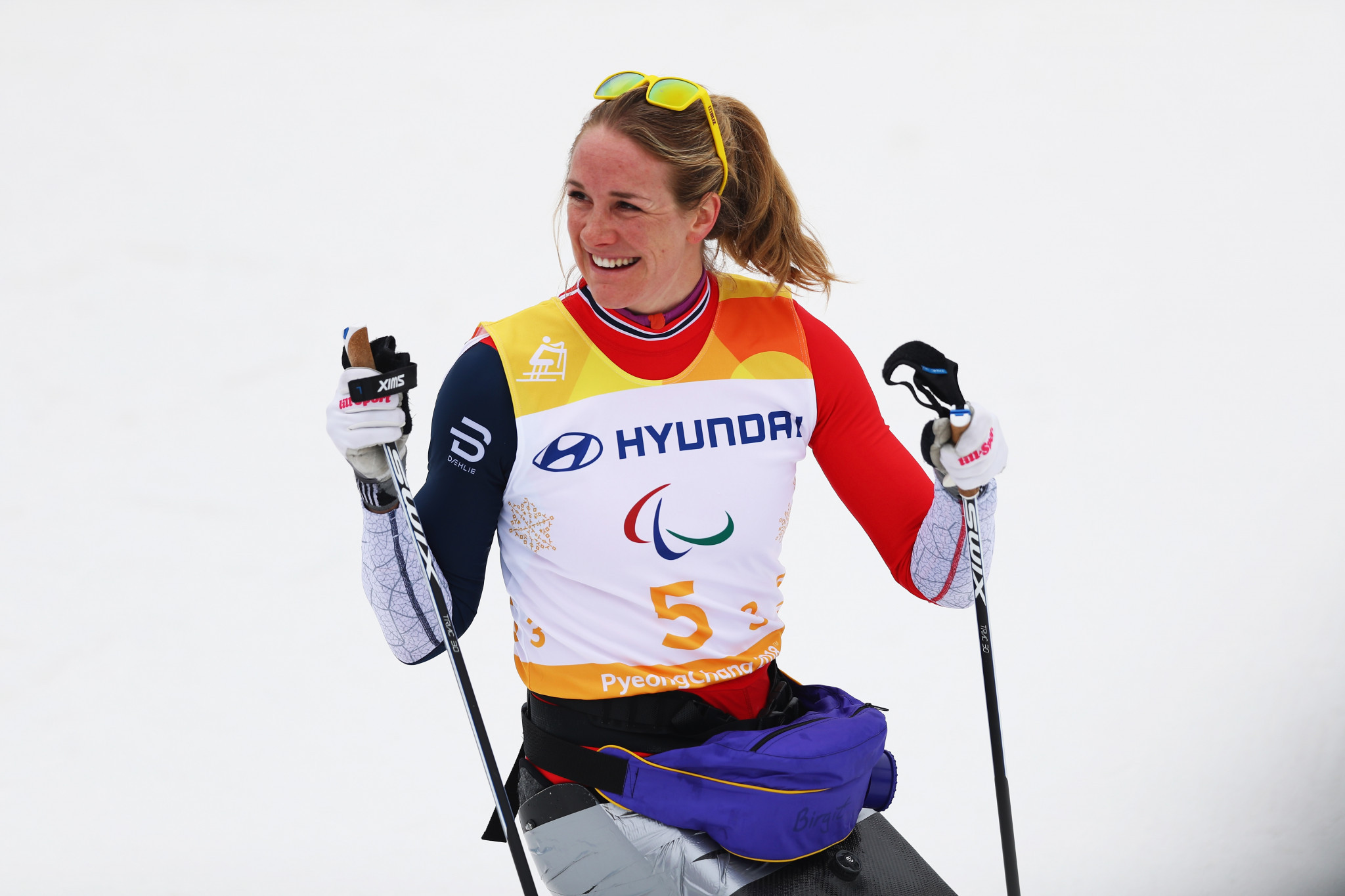 Birgit Skarstein competes in cross-country skiing and rowing ©Getty Images