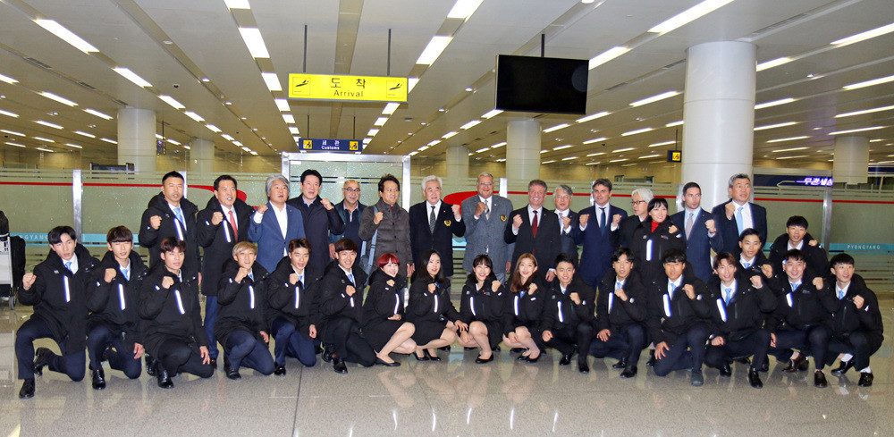 "World Taekwondo President Chungwon Choue has led a delegation to North Korea with a message of ""peace and unity"" ©World Taekwondo"