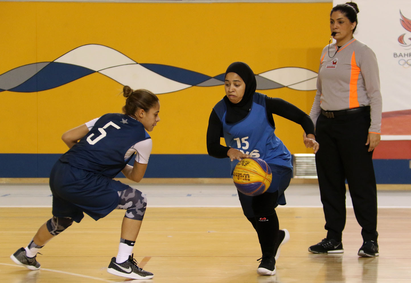 3x3 basketball was among the sports contested at last year's Bahrain Women's Day Sportsfest ©BOC