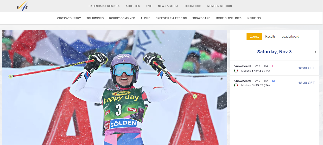 International Ski Federation launch re-design of website
