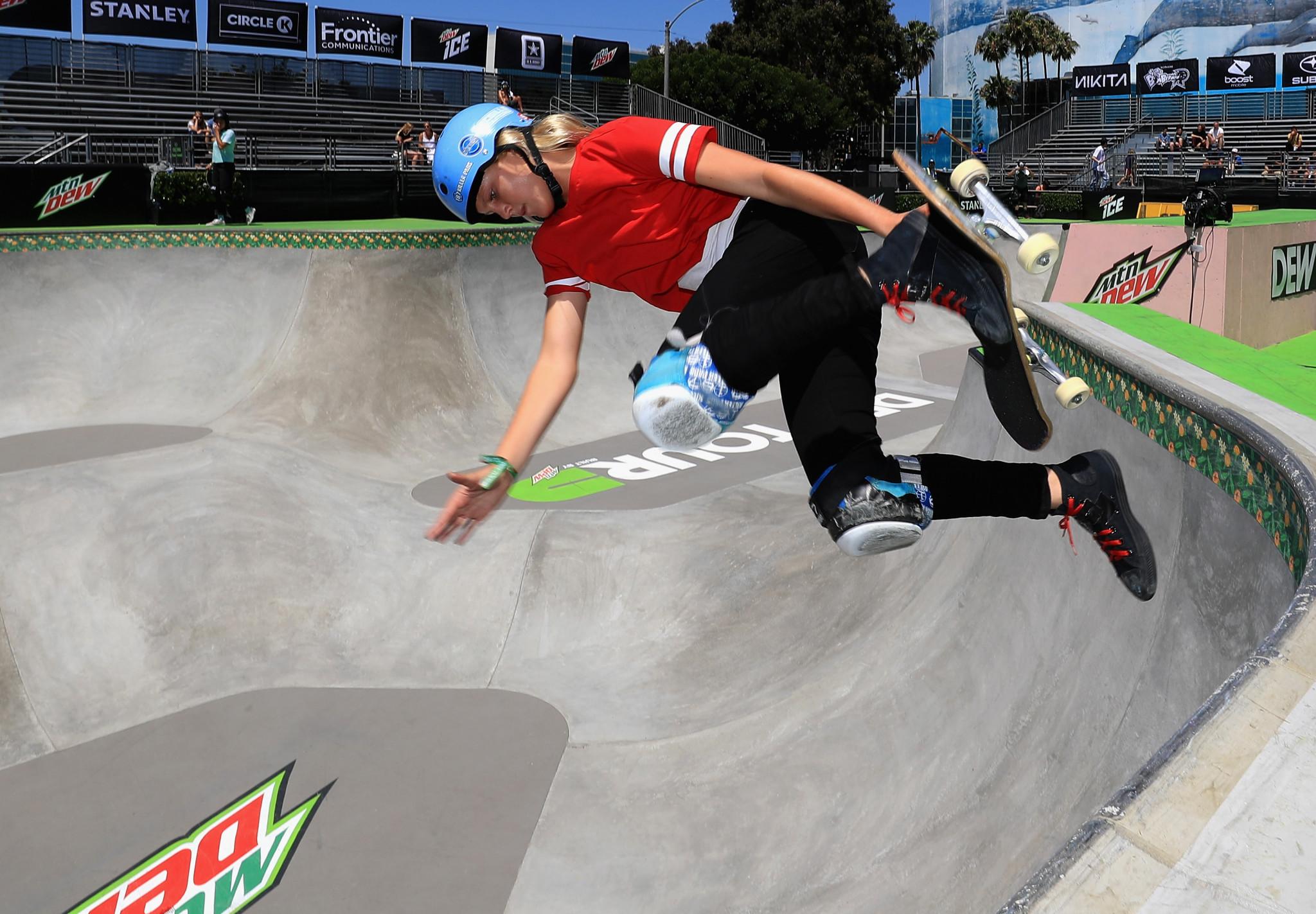 Wettstein tops women's qualifying as World Skate Park Skateboarding World Championships begin