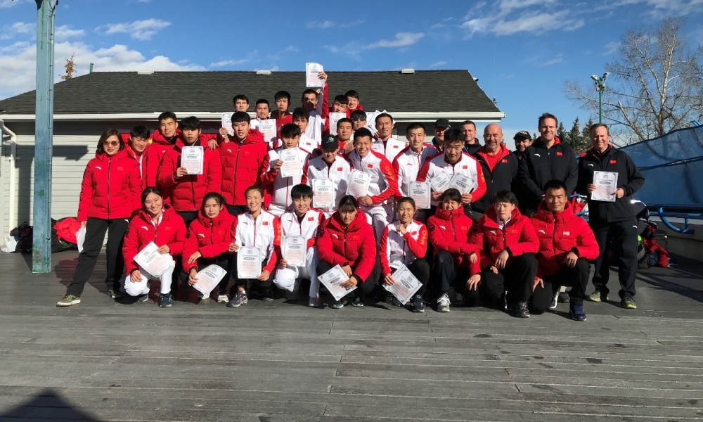 China's bobsleigh athletes continued their preparations for their home Beijing 2022 Winter Olympics by hosting their second National Championships ©IBSF