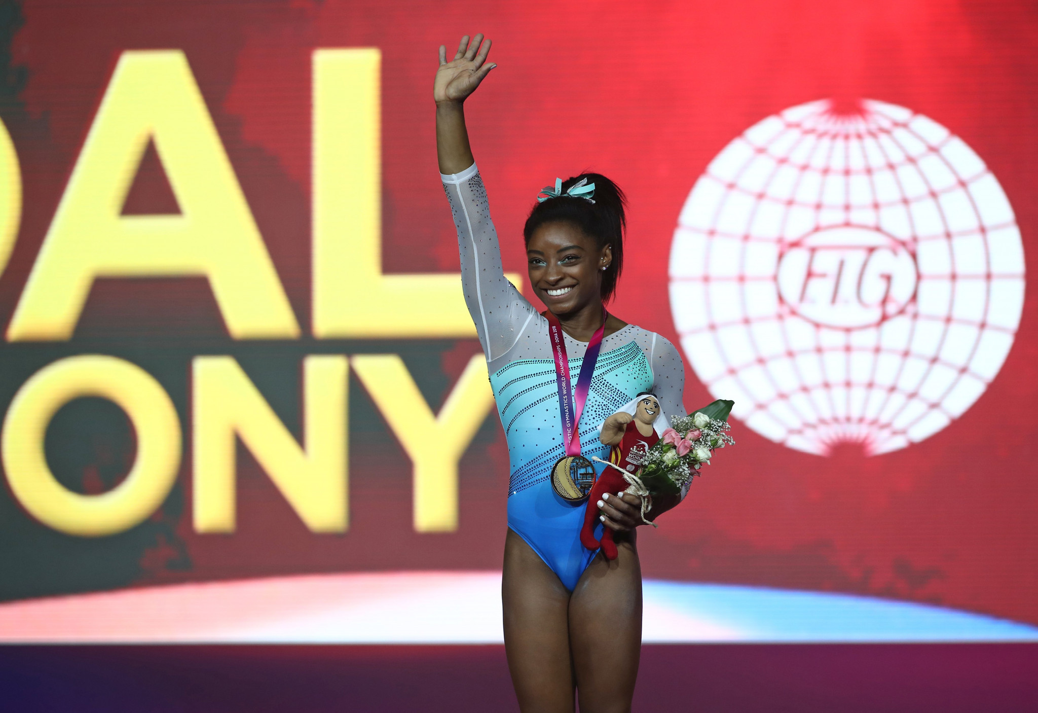 Biles makes history with fourth all-around title at Artistic Gymnastics World Championships